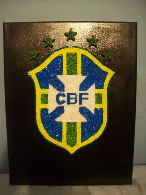 Brazil National Soccer Team Badge - Newell's Art