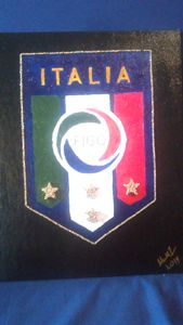 Italy National Soccer Team Badge