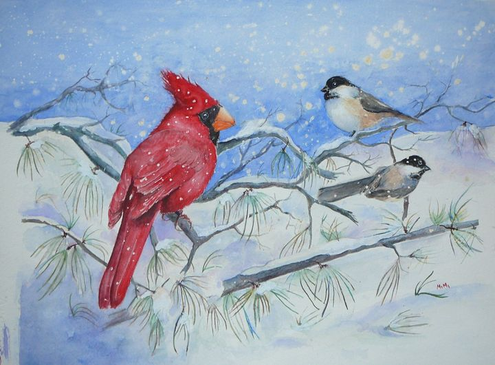 First Snowfall - Mimi's Paintings