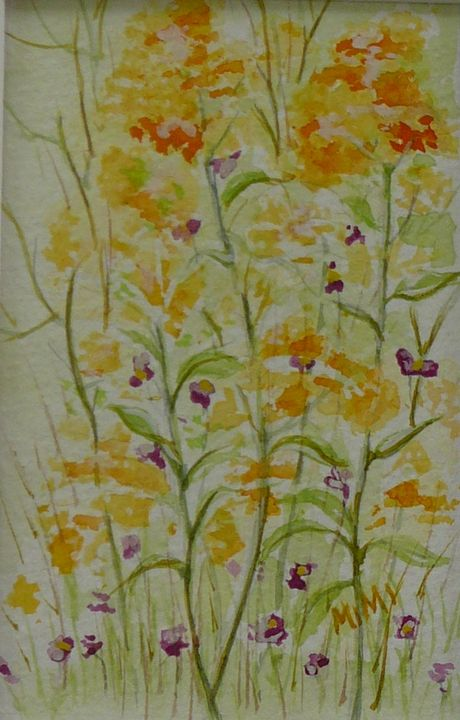 Meadow Flowers- Yellow - Mimi's Paintings