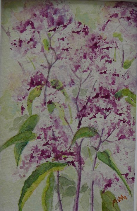 Meadow Flowers- Purple - Mimi's Paintings