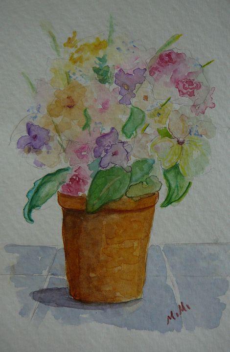 Pretty in Pot - Mimi's Paintings
