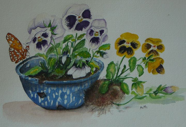 Pansies - Mimi's Paintings