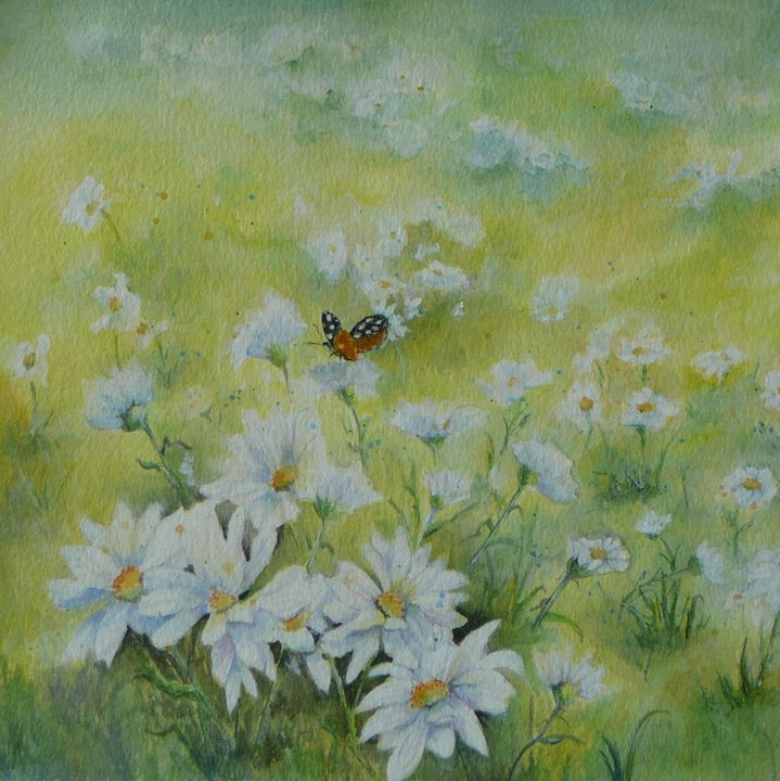Field of Daises - Mimi's Paintings