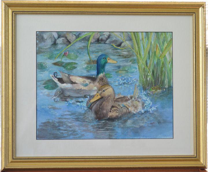 Backyard Visitors - Mimi's Paintings