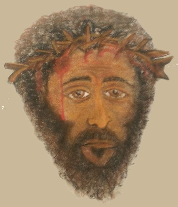 Dark Skinned Jesus - Emotions - by Tasha Mayes Brookman