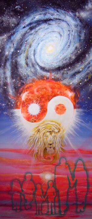 Event Horizon 2 ( Oil and Acrylic ) - Marialucia