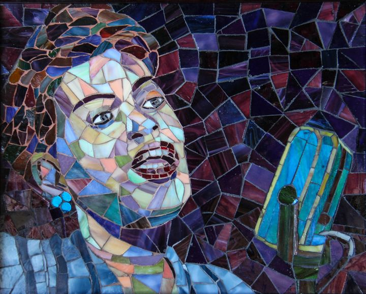 """Billy Holiday """"Young Billy Holiday"""" - Gregory Sipp Mosaic Artistry"""
