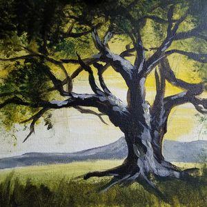 Tree in Summer - Art By J