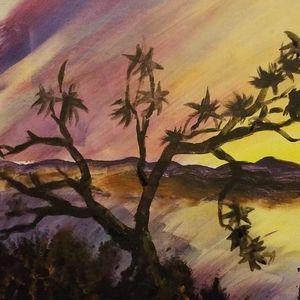 Sunset Lake - Art By J