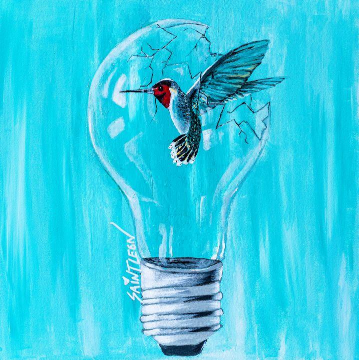 Freedom - Saint Leon Art - Paintings & Prints, Animals, Birds, & Fish,  Birds, Hummingbirds - ArtPal