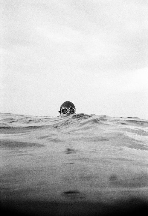 Tim in Atlantic Ocean 1991 - Koehlerphotography.com