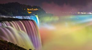 Lights at the Niagara Falls