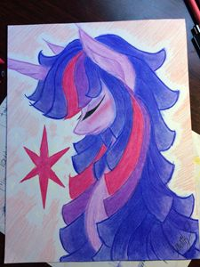 Twilight Sparkle head bust