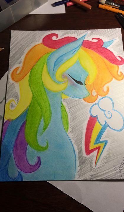 Rainbow Dash head piece - Serenity's Arts