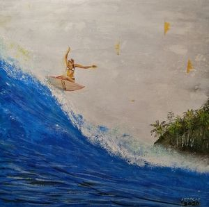Surfer girl off the lips