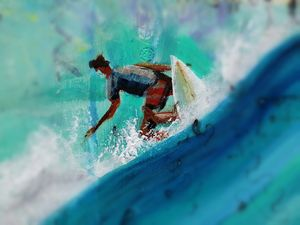 Surfer off the lips