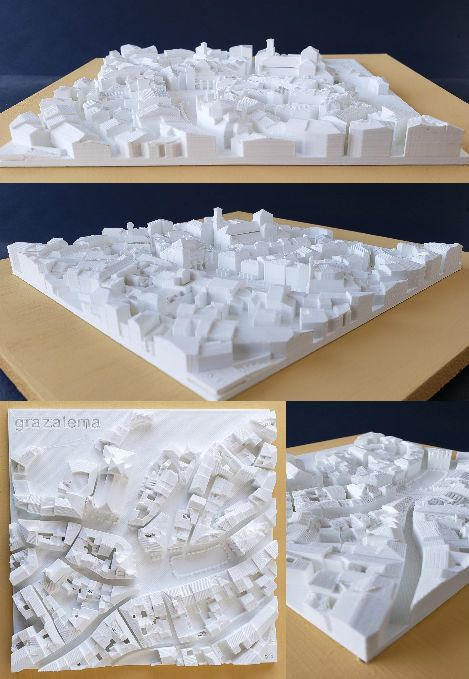 3D Townscape of Grazalema, Andalucia - 3D Townscapes