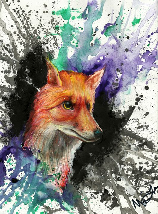 Fox of Many Colors - Lion Abstract