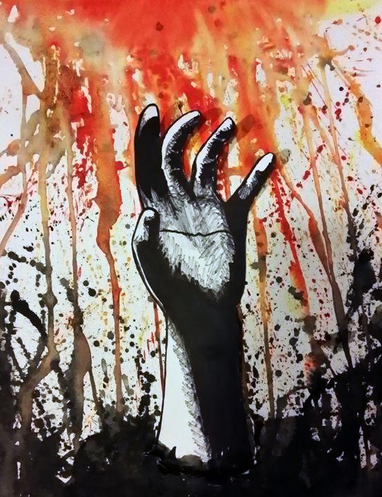 Break Free - Lion Abstract