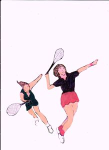 TENNIS GIRLS - ART CREATIONS BY OLGA