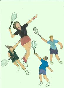 TENNIS GUYS AND DOLLS