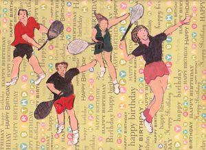 TENNUS FUN HAPPY BIRTHDAY - ART CREATIONS BY OLGA