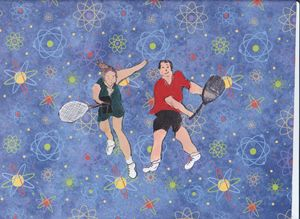 TENNIS MIXED DOUBLES - ART CREATIONS BY OLGA