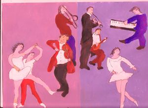 DANCERS WITH THE JAZZ MUSICIANS