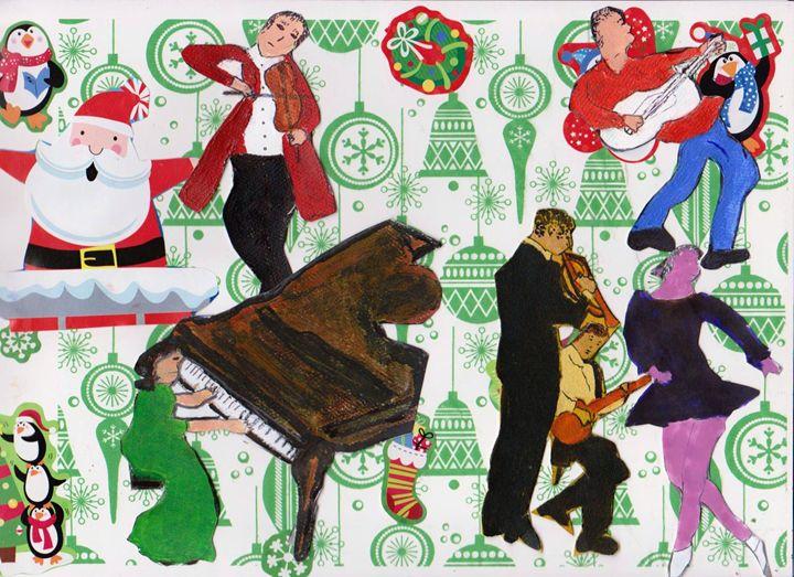 CHRISTMAS MUSIC - ART CREATIONS BY OLGA