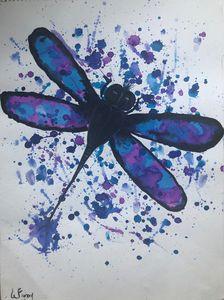 Blue and Violet Dragonfly