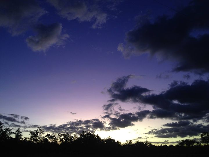 Purple and Yellow Sky - Photography