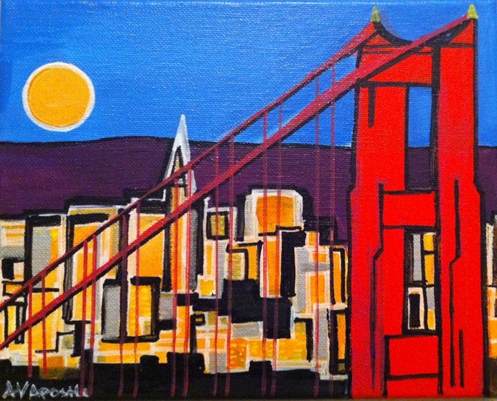 San Francisco Golden Gate Bridge #1 - A.V.Apostle Fine Art