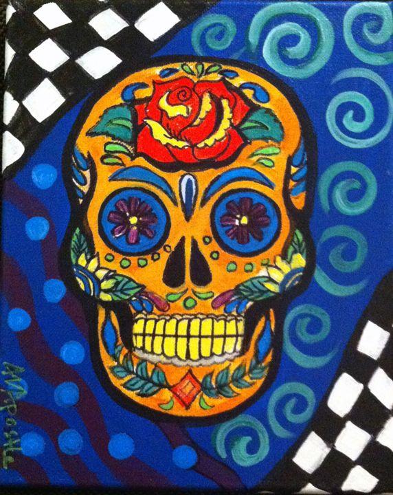 Sugar Skull #1 - Day of the Dead - A.V.Apostle Fine Art
