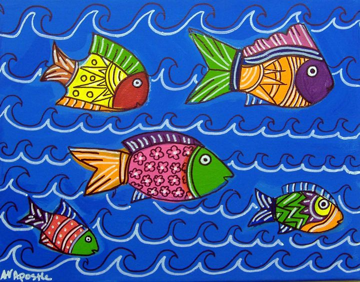 Tropical Fish - A.V.Apostle Fine Art