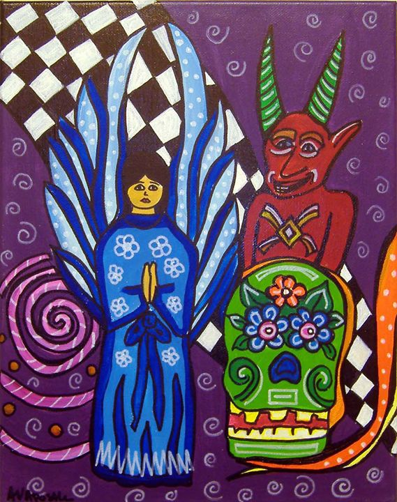 Day of the Dead/Angel & Devil - A.V.Apostle Fine Art