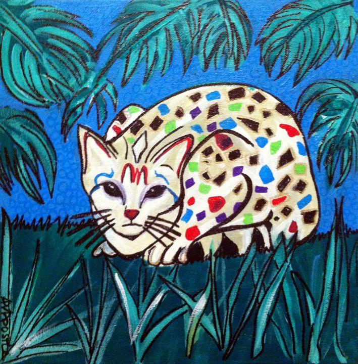Mexican Folk Art - CAT - A.V.Apostle Fine Art