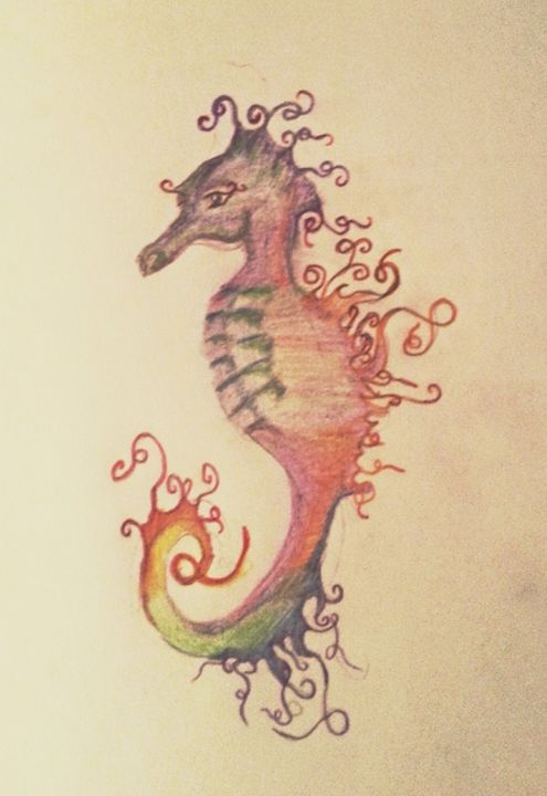 rainbow seahorse - puzzling artist