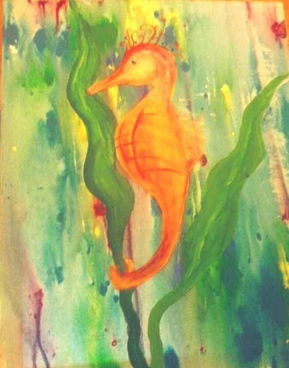 Tiny little seahorse - puzzling artist
