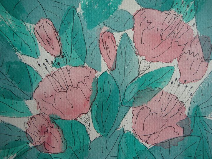 Pink Fusia Bush - pauline jones