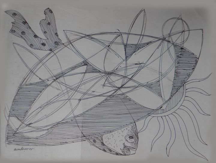 When A fish - Roy_all Art Gallery