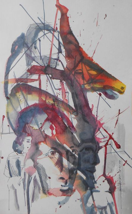 Abstract Figure and Face - Roy_all Art Gallery