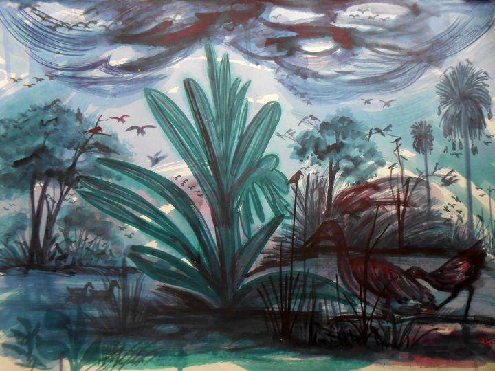landscape Of  Bird Village - Roy_all Art Gallery
