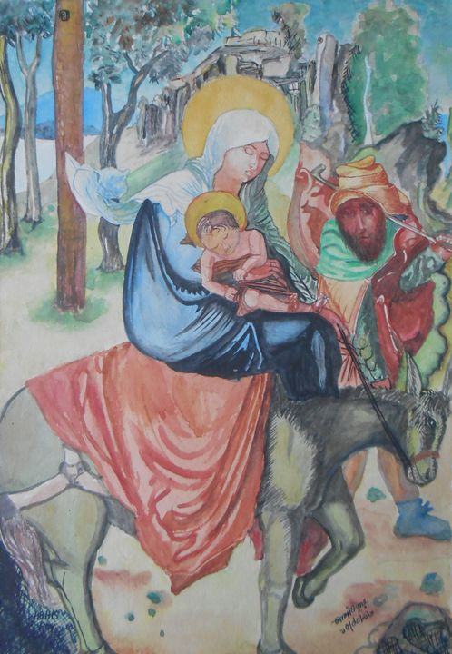 Mother Merri and Jesu - Roy_all Art Gallery