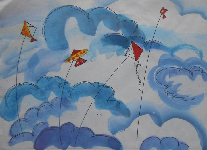 Kite in the Sky - Roy_all Art Gallery