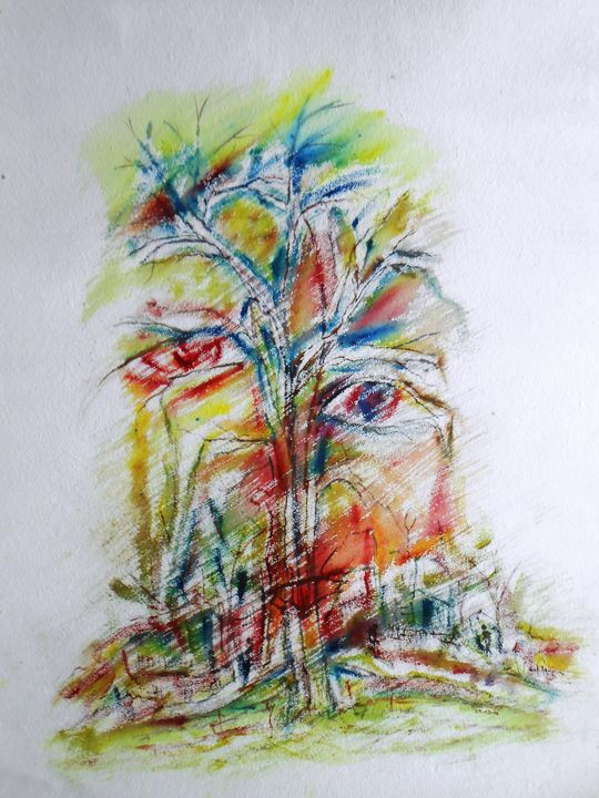 The Face with Tree - Roy_all Art Gallery
