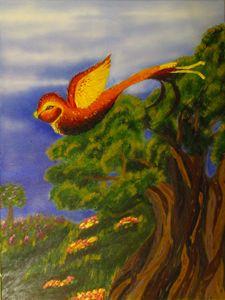 Baby Phoenix in Flight