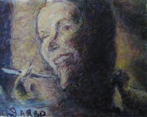 Greta Garbo with Cigarette