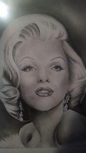 Hand Drawn Marilyn Monroe portrait.