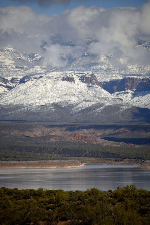 Snowy Roosevelt Lake - Desert Life Studio
